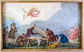 Chiesa san daniele Padova - affresco di Sebastiano Santi_ il martirio di San Daniele